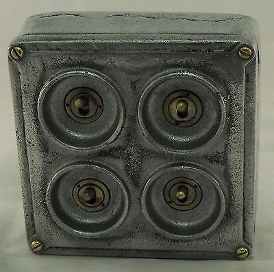 Vintage Industrial 1//2//3 Gang Cast Metal Heavy Light Switch BS EN Approved