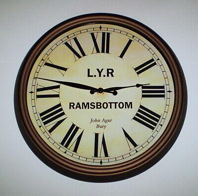 Lancashire & Yorkshire Railway LYR Victorian Style Clock, Ramsbottom Station 3