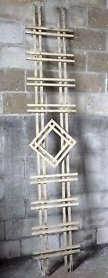 Antique Craftsman Style Diamond Porch Lattice - Circa 1910 Architectural Salvage
