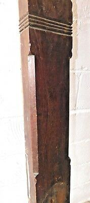 Antique Victorian Style Half Newel Post - C. 1880 Walnut Architectural Salvage 4