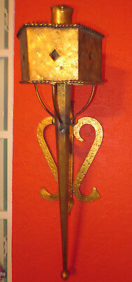 Regal Gilt Metal Gothic Torch Sconces Light Fixture