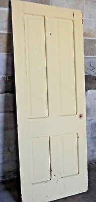 Antique Victorian Interior Door - Circa 1895 Fir Architectural Salvage