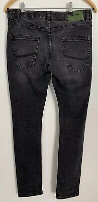 Zara Boys Faded Skinny Fit Black Jeans Aged 11-12 Years 3