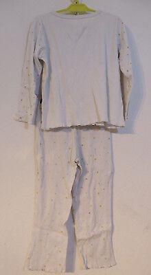 H&M ° hübscher Schlafanzug Gr. 110 116 weiß 2-Teiler Mädchen Nachtwäsche Pyjama 3