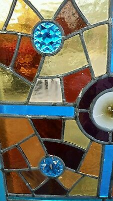 Antique American Aesthetic  Stained Leaded Glass Window 3