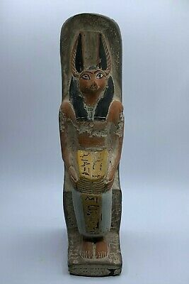 RARE EGYPTIAN EGYPT ANTIQUES ANUBIS God Deity Dog STATUE Carved 3.Kg STONE BC 3