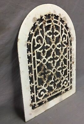 One Porcelain Antique Arched Top Heat Grate Grill Gothic Wall Arch 10X13 47-19D 4