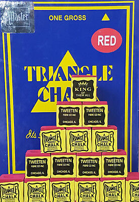 Triangle Chalk - Green - Blue - Red - Tweeten for Snooker or Pool  1 to 12 Cubes 3