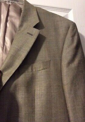 ***EUC*** Ralph Lauren Men's Silk Wool Linen Tan Brown Jacket Blazer • Size 44L 5
