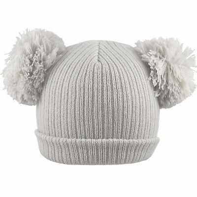 Baby 2 Pom Pom Hat Double Bobble Beanie Knitted Winter Warm Boy Girl Newborn-12M 2