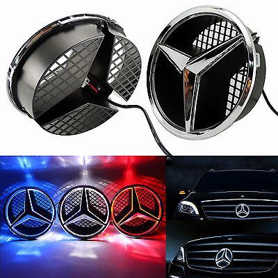 Illuminé LED lumière Emblème Logo Grille LED Badge Avant pour Mercedes Benz NEUF 8