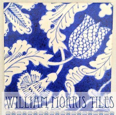 William Morris Tulip And Carnation Fireplace Tiles Green Room Kelmscott Manor 3