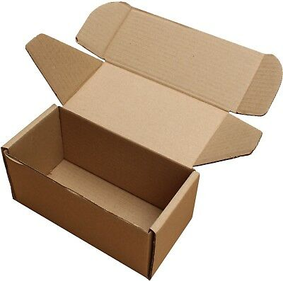 "8x4x4"" SHIPPING STORAGE BOXES CARDBOARD POSTAL MAILING GIFT PACKET SMALL PARCEL 4"