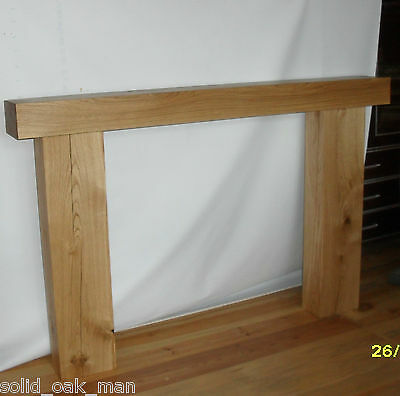 Fire Surround, solid rustic oak beam, MADE TO MEASURE oak fireplace surround 6