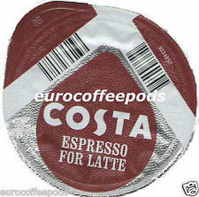24 x Tassimo Costa Latte 12 Coffee 12 Milk 24 T- Discs 12 Servings 3