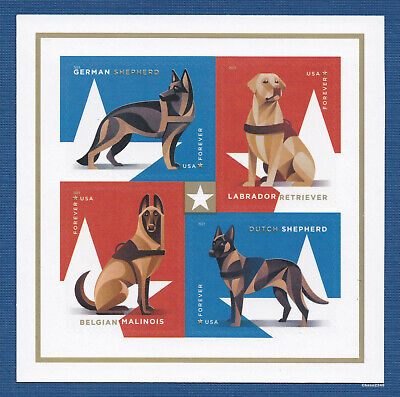 Scott #5405-08 2019 Military Working Dogs (Booklet Block of 4) 2019 Mint NH 3