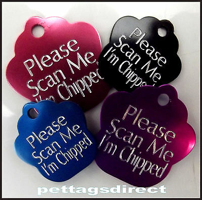 Deeply Engraved Animal Dog and Cat Id Name Disc Tags Personalised Various Colors