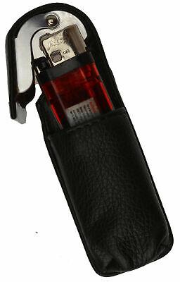 Black CIGARETTE HARD CASE Leather Lighter 100s Regular Holder USA Seller 11