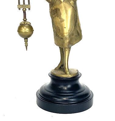 German Style Junghans Brass Barmaid Figure 8 Day Swinging Swinger Clock 8
