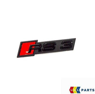 New Genuine Audi Rs3 17- Front Bumper Center Grill Black Rs3 Badge Emblem 3