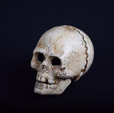 Metall Totenkopf Skulptur menschlicher Schädel Kopf