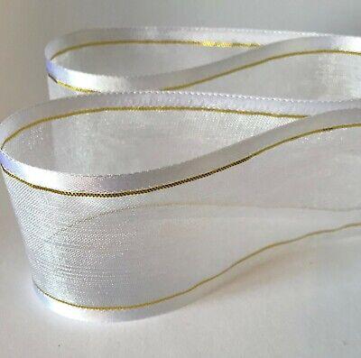 2-10m  Various Colours-Types  Woven Edge Organza Sheer Chiffon Wedding Ribbon 12
