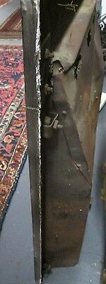 Good Antique Arts & Crafts Full Iron Surround W/cover In Black Estate # 124 6
