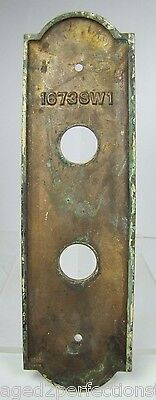 Antique Elevator Panel Up Down Bronze Brass bevel edge deco ornate orig embossed 5