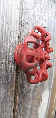"Lot/Set of 2 Metal Rustic Red 2"" FAUCET HANDLE Drawer Pull Knobs Coat Hooks Door 5"