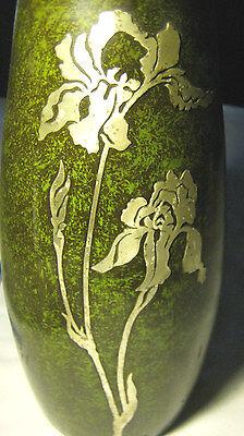 Antique Heintz Arts & Crafts Sterling On Bronze Lg Flower Garden Plant Urn Vase 2