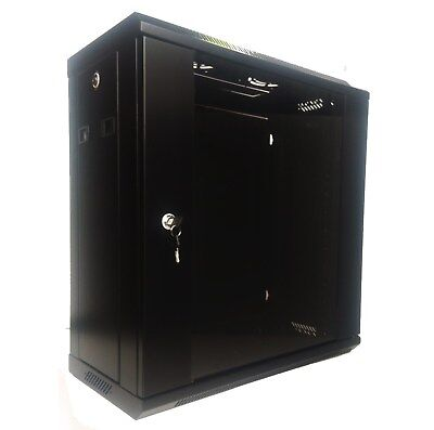 "12U 300mm Deep 19"" Rack System Wall Mount Network Cabinet (Provision for 2 Fans) 8"