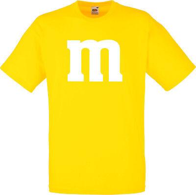 SCHLUSSVERKAUF Gruppenkostüm für M&M Fans MM Fasching Shirt 7