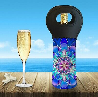 Mandala Personalised With Or Without Name Wine Bottle Cooler Carry Bag 2