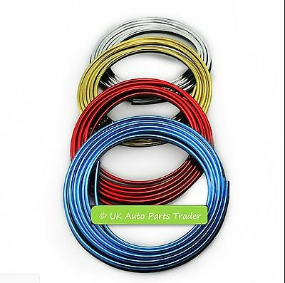 5M Car 3D Door Dashboard Steering-wheel Styling Interior Decoration Line Strips