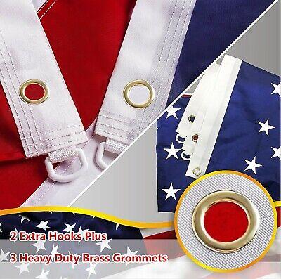 G128 – American Flag US USA | 5x8 ft | Embroidered Stars, Sewn Stripes 5