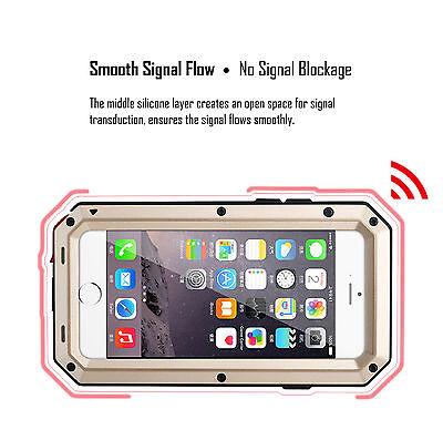 HEAVY DUTY Shockproof Waterproof Aluminum Metal Cover Case Fr iPhone X 11 8 7 6s 8