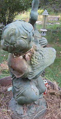 Antique Architectural Water Fountain Cast Iron Flower Garden Statue Sculpture Ny 6