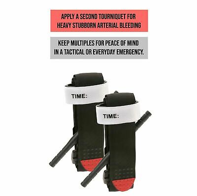 3PACK Tourniquet - Rapid One Hand Application Emergency Outdoor First Aid Kit US 7