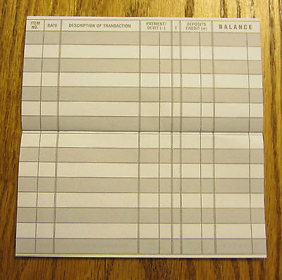 24 easy to read checkbook transaction register large print check