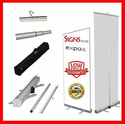 """Aluminum 48""""x80"""" Retractable Roll Up Banner Stand Pop Up Trade Show Display"""