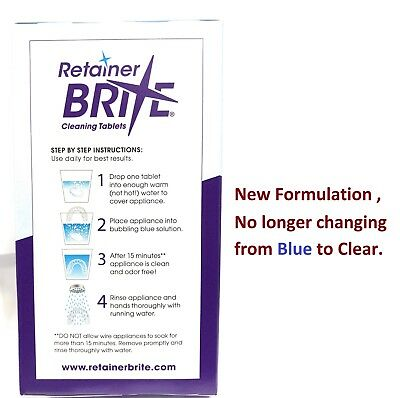 Retainer Brite 96 Tablets, Mouth guard Denture Cleaner Plaque remover - 1 Box 4