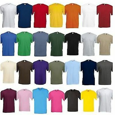 3 Pack Men/'s Fruit of the Loom Plain 100/% Cotton Blank Tee Shirt Tshirt T-Shirt