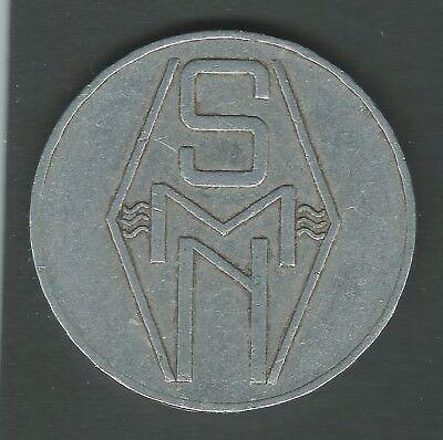 Boordgeld SMN 250 cent Stoomvaart Maatschappij Nederland Amsterdam Kooij BS003.7 2