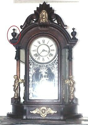 Clocks Finial For Ansonia Triumph, New Haven Occidenta 2 pieces 3