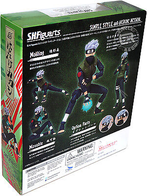S.H.Figuarts Naruto Shippuden Hatake Kakashi Action PVC Figure Toy New In Box 2