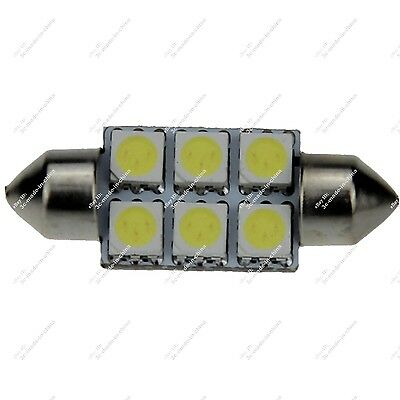 2X Festoon 36MM 6418 6461 6 SMD 5050 LED Interior Dome Light RV Roof Lamp ZI104