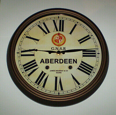 GNSR Great North of Scotland Railway Styled Station Wall Clock, ABERDEEN Station 4
