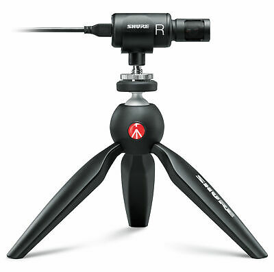 VIDEO KIT für Smartphones Stereo-Kondensatormikrofon Mini Stativ uvm Shure MV88