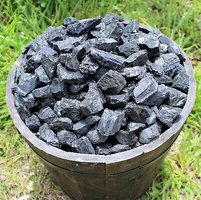 Black Tourmaline Rough Natural Stones: 1 lb Bulk Wholesale Chakra Raw (16 oz) 6