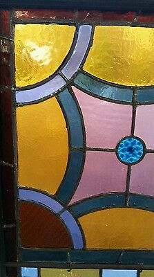 Antique Stained Glass  Window Victorian Era 4